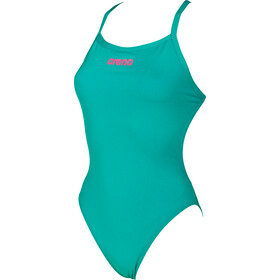 arena Solid Light Tech High Maillot de bain une pièce Femme, persian green-aphrodite